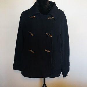 Old Navy dark blue wool blend pea coat